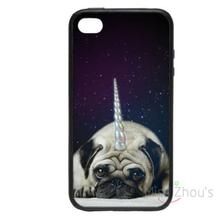 For iphone 4/4s 5/5s 5c SE 6/6s plus ipod touch 4/5/6 back skins mobile cellphone cases cover UniPug Cute Sparkles Glitter Dog