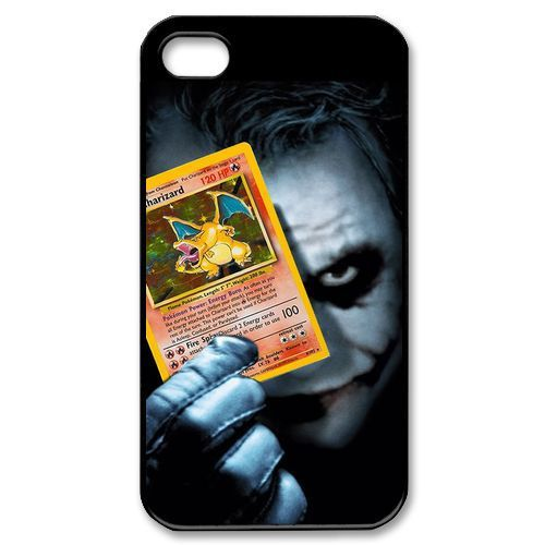 Joker Charizard Card Dark Knight Batman Cell Phones Cover Case for Apple iPhone 5 and 5s(mixed order batch)(China (Mainland))