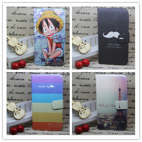 New 4 Pattern Fashion Trend Wallet Stand Holster Back Cover Skin Case Flip Leather For Huawei Mate 7(China (Mainland))