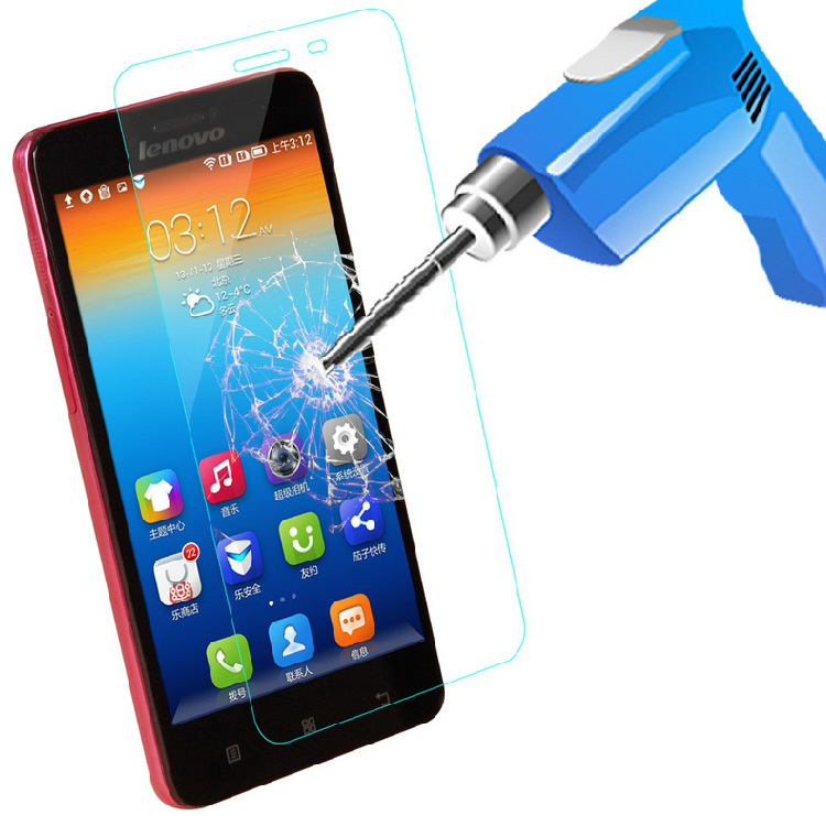 0.3mm Tempered Glass Film for Lenovo S850 0.2mm Round Border High Transparent Screen Protector Film with Clean Tools