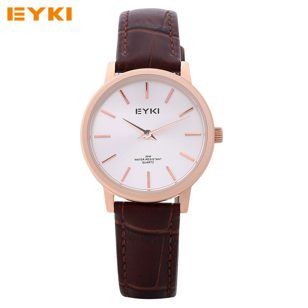 EYKI Womens Watches TOP Brand Luxury Ladies Watches Leather Quartz Wrist Watch Relojes De Mujer Montre Femme Marque de Luxe 2016(China (Mainland))