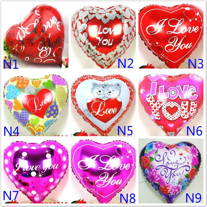 Wholesale 100pcs/lot Mix Love theme foil balloons mylar ballons Love Heart wedding/Valentines day helium baloes love globos<br><br>Aliexpress