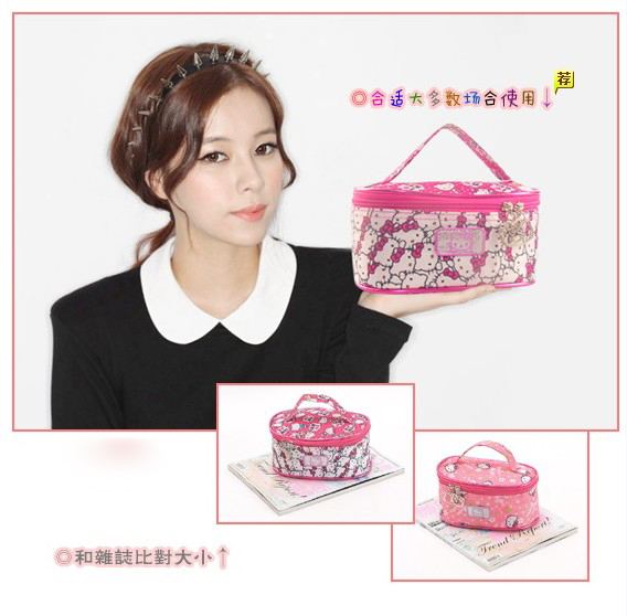 (10 Pcs/Lot) High Fashion Cute Gril Hello Kitty Canvas Pink Hot Pink Storage Bags,Best Gift For Lady,Wholesale Only(China (Mainland))