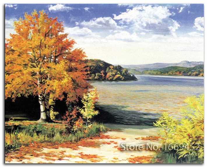 5d Kits for embroidery forest diy diamond painting landscape picture rhinestones cross stitches landscape trees diamond pattern(China (Mainland))