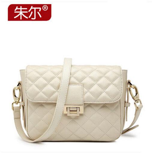 2015 ZOOLER brand women bag 2015 new genuine leather bag High quality luxury fashion Women shoulder Messenger Bag beige black(China (Mainland))