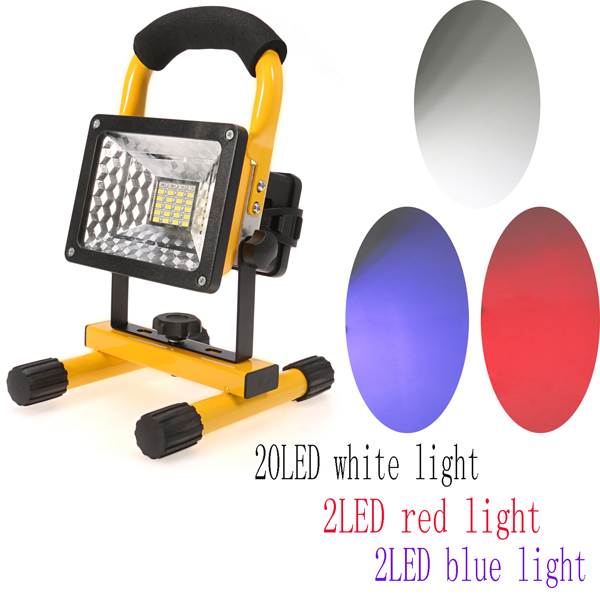 Гаджет  IP65 24 LED Floodlight 30W 2400LM Portable Rechargeable Work Emergency flood light for Traveling Camping Fishing Outdoor Indoor None Свет и освещение
