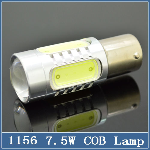 2Pcs Free Shipping Super White cob p21w led 1156 ba15s 12v bulbs RV Trailer Truck car styling Light parking Auto led Car lamp(China (Mainland))