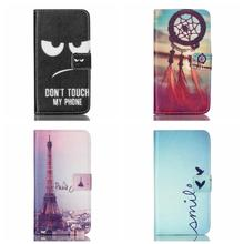 Luxury Flower Leather Wallet Cases For Microsoft Nokia Lumia 640 Flip Cover Shell Case Card Holder Shell Fashion Eiffel Tower(China (Mainland))