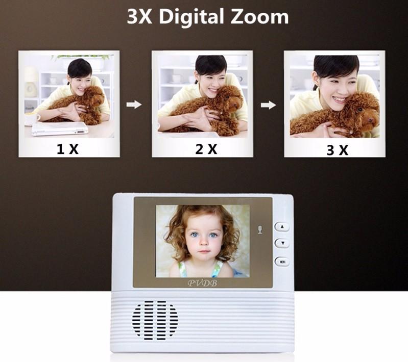 Видео глаз кольцо дверной звонок камера беспроводной глазок 2 8 дюймов TFT lcd 3X зум 1.2