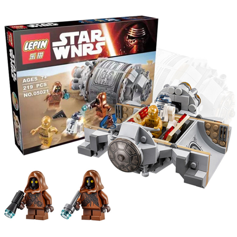 LEPIN 05021 Star Wars Droid Escape Pod 75136 Minifigure Building Blocks Set Bricks Toys The Force Awakens Compatible With Gift(China (Mainland))