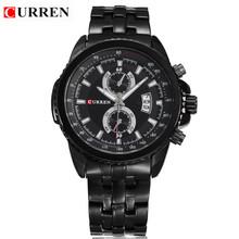 Masculino Original Curren 8082 hombres reloj de relojes de primeras marcas de lujo hombres llenos de acero relojes del cuarzo del reloj deportivo