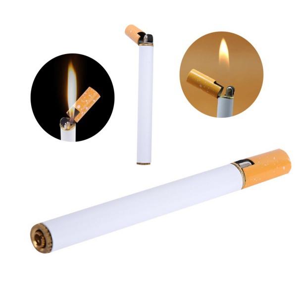 Cigarette Shaped Refillable Butane Gas Novelty Cigar Lighter Windproof Jet Flame Hot Sale(China (Mainland))
