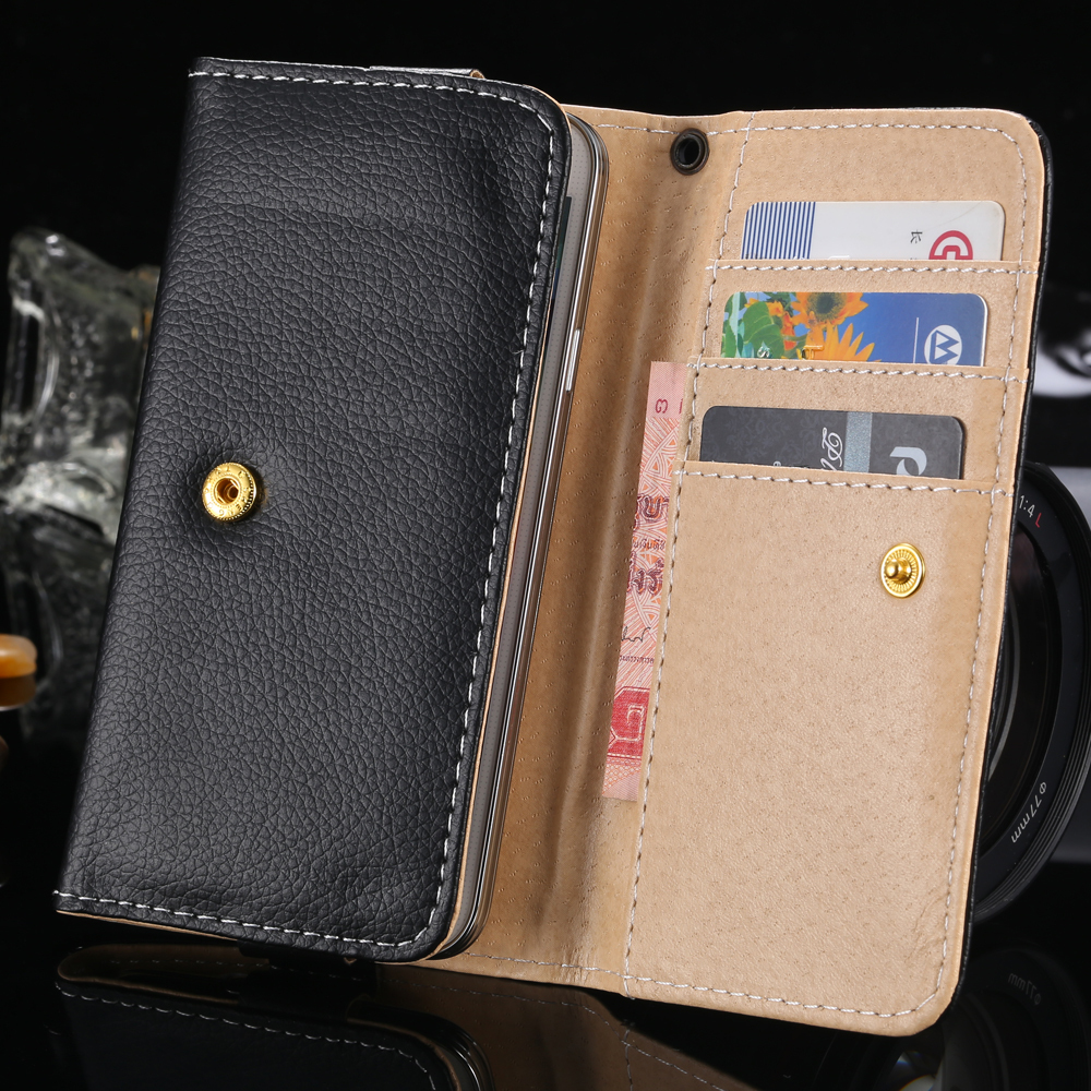 Flip Case for Samsung Galaxy S5 S4 S3 Luxury PU Leather Cover For Xiaomi For Huawei For ZTE General Wallet Capa For Mini Phone(China (Mainland))