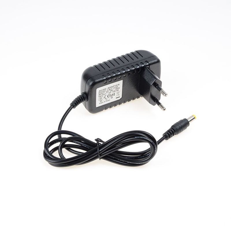 AC100~240V EU/US/AU/UK Output DC 12V 3A power adapter 5.5*2.5mm, for led strip light, LCD Monitor, TV Box Switching Power supply(China (Mainland))