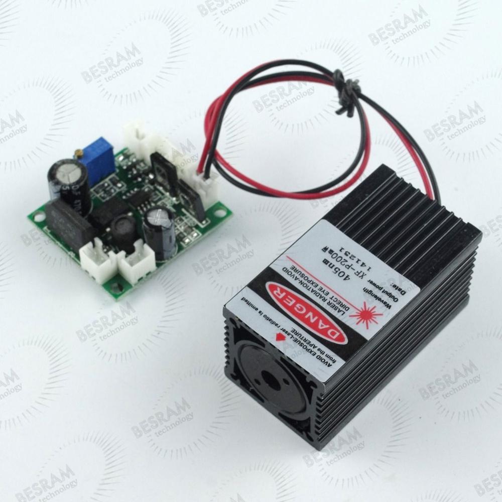 200mW 405nm Blue Violet Purple Laser Diode Module 12VDC TTL Stage Lighting(China (Mainland))