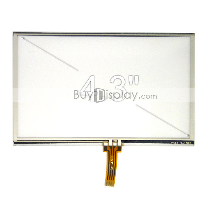 4.3 inch 4.3inch 4-Wire Resistive Touch Panel Screen used for MP4,PSP,GPS(China (Mainland))
