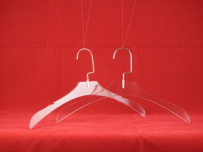 Factory direct sale Acrylic transparent women clothing display hangers(China (Mainland))
