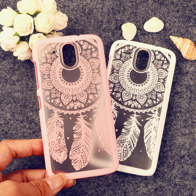 Rubberized Painted Dream Catcher mobile phone skin case Cover For HTC Desire 526 526G+ 326 326G case Flower Pattern phone shell(China (Mainland))