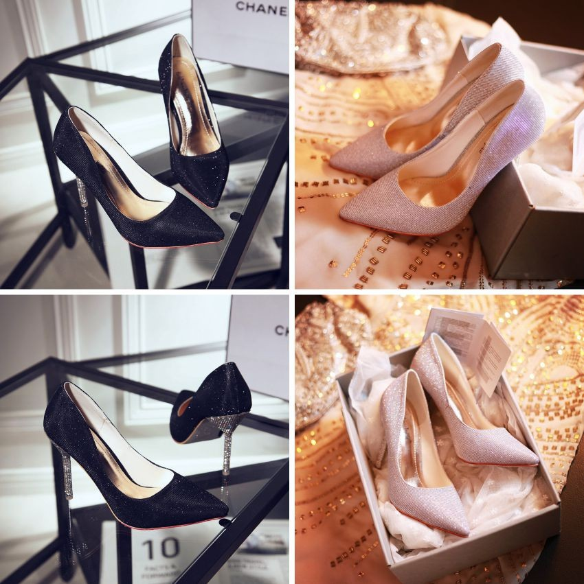 ซื้อ ที่มีคุณภาพสูงARMOIRE 2015ใหม่ผู้หญิงแฟชั่นปั๊มสีดำหญิงทองสีเงินคริสตัลเซ็กซี่รองเท้ารองเท้าส้นสูงAXY19-10