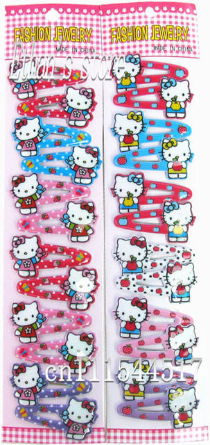 Free Shipping  Flashing cat Girls hello kitty   Barrette  hair clips  Baby Mix Oder