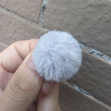 3 CENTÍMETROS ~ 4 CM 1 PC Macio Bonito Mini Pompom faux Rabbit Fur Bola Chaveiro Acessórios Femininos Artificial Chave anel DIY Acessórios Brinco(China)