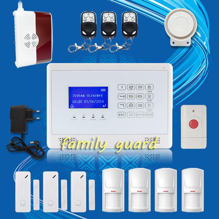 Здесь можно купить  Free Shipping!M2BX Wireless GSM SMS TEXT Touch Keypad Home House Alarm System Menu display convenient+Gas Sensor+Panic Button  Безопасность и защита