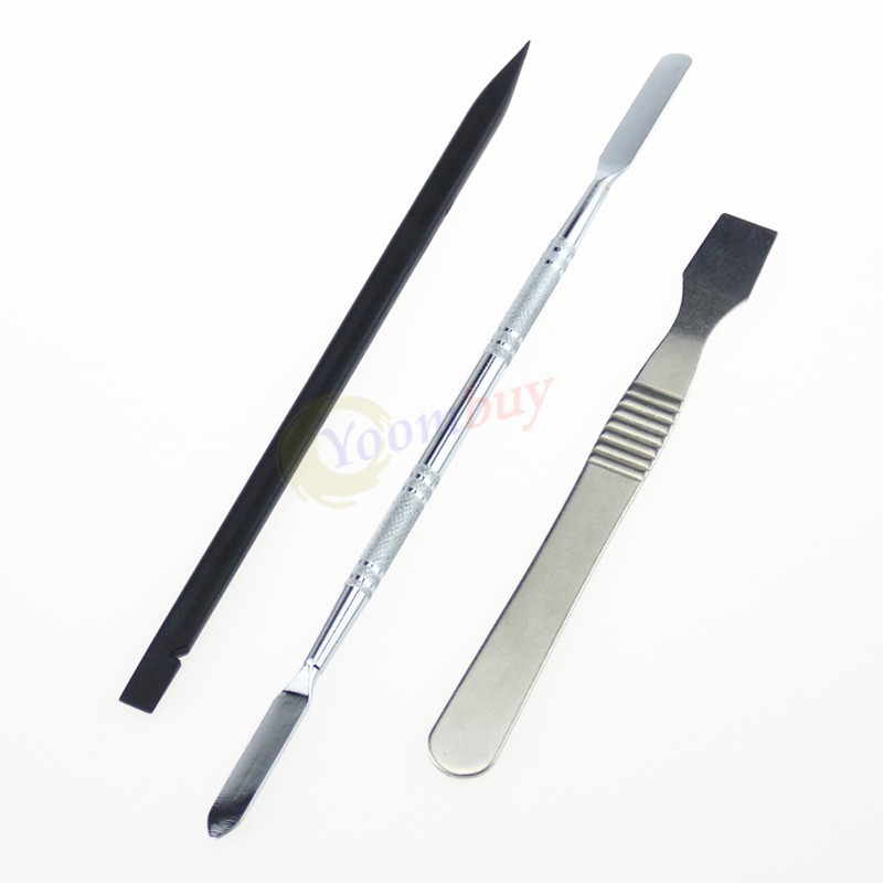 3 Pcs Metal & Plastic Spudger Set Repair Opening Pry Tool for Apple iPad iPhone(China (Mainland))