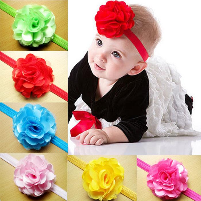 2014 new fashion 12 color flower baby headband 2014 new fashion 12 color flower baby headband