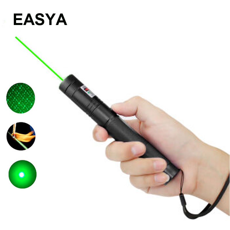 High Power Green Laser Pointer 532nm 50mW 303 Laser Pen Adjustable Length Powerful Lazer pointer With Starry Head Burning Match(China (Mainland))