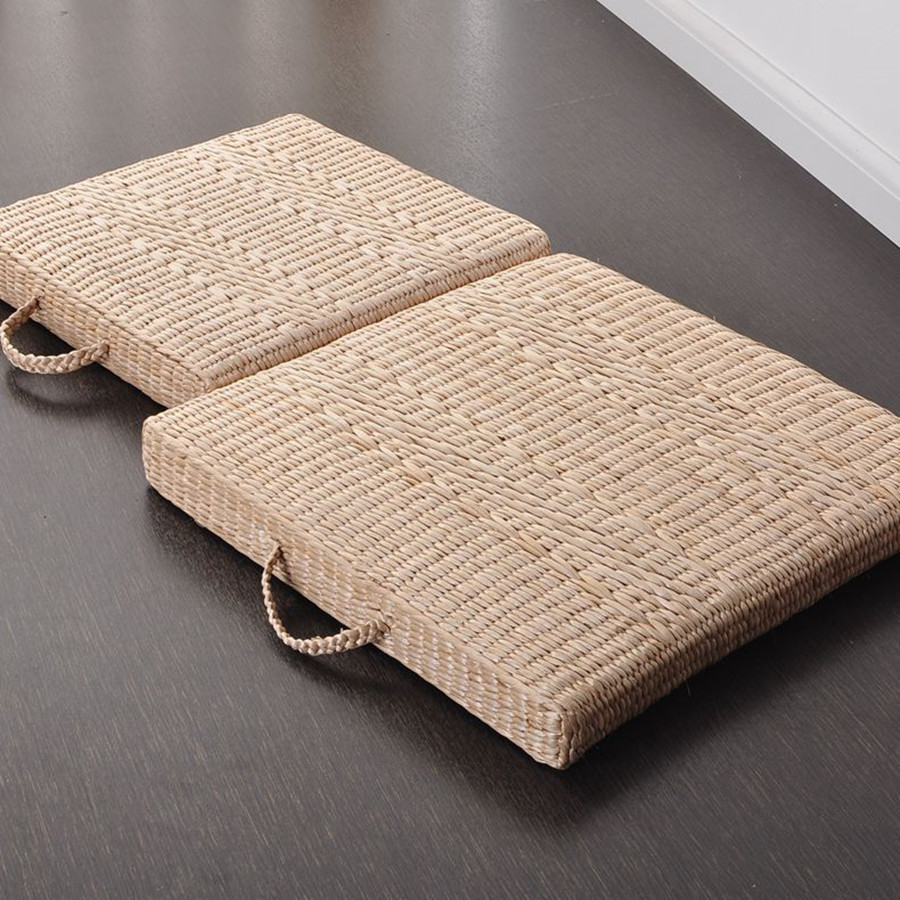 Straw Braid Futon Portable Square Meditation Cushion Kooshen For Cushions Online
