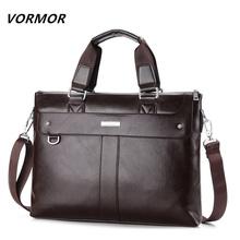2016 Men Casual Briefcase Business Shoulder Bag Leather Messenger Bags Computer Laptop Handbag Bag Men's Travel Bags NBB235