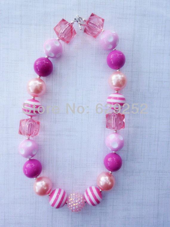 Здесь можно купить  10PCS LOT Pinks Chunky Necklace - Pink and Light Pink Necklace - Girls Chunky Necklace - Bubblegum Necklace CB158  Ювелирные изделия и часы