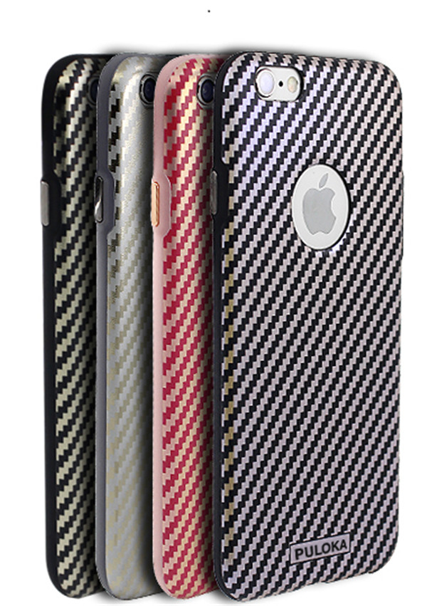 New Luxury Carbon Fibre High Quality TPU Phone Cases For iPhone 6/6S/6Plus/6S Plus 4.7/5.5inch Stripe Design Cover With Package(China (Mainland))
