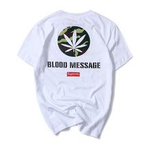 Summer new menst – shirts popular logo super camouflage hemp leaf round collar men 's cotton t-shirts lovers with short sleeves