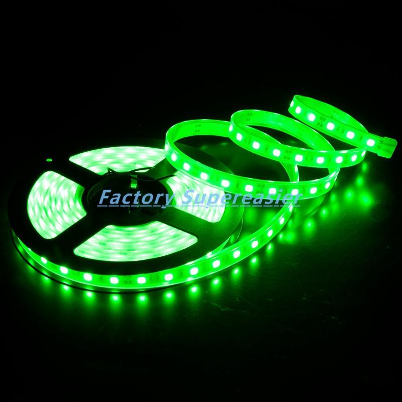 Flexible LED Strip Green Lighting SMD 5050 DC12V 5M/roll 60LEDs/m LEDs Car Light Waterproof IP66 Tube Wholesale #10359(China (Mainland))