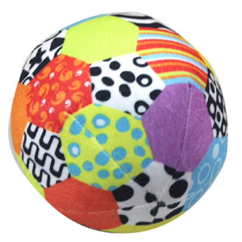 Гаджет  6inches Colorful Baby Ball Toy Soft Ring Bell Ball Plush Rattle Baby Crawl Toy Early Educational None Игрушки и Хобби