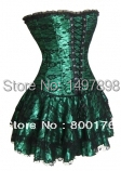 Free shiping walsonstyles 2163 sexy Burlesque Corset & tutu Fancy dress costume Can Can outfit instyles(China (Mainland))