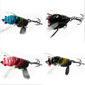 2016 Random Color New Promotions 1 Pcs 4 Color Insect Cicada Baits Fishing Lures Bass Crank