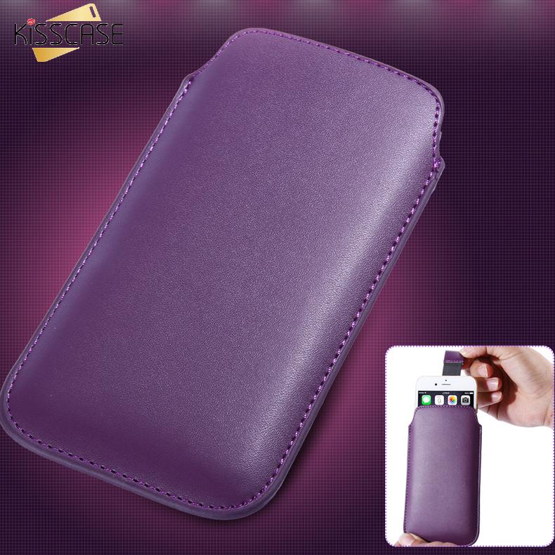 KISSCASE 5.5inch Universal Phone Bag Case Huawei Honor 3C 6 P7 Leather Cover Pouch LenovoVibe x2 Xiaomi Mi4 7 Plus