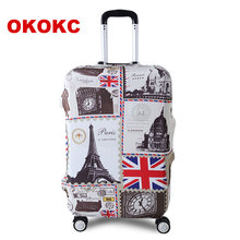 OKOKC Tower Travel Luggage Suitcase Protective Cover for Trunk Case Apply to 19''-32'' Suitcase Cover Thick Elastic Perfectly(China (Mainland))