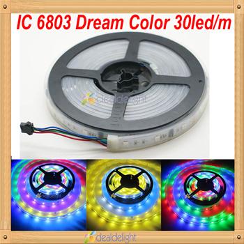 5050 RGB SMD Magic Intelligent 150LED IP67 tube waterproof dreamcolor digital STRIP LED Ribbons Chasing Dream 6803 IC FREE SHIP
