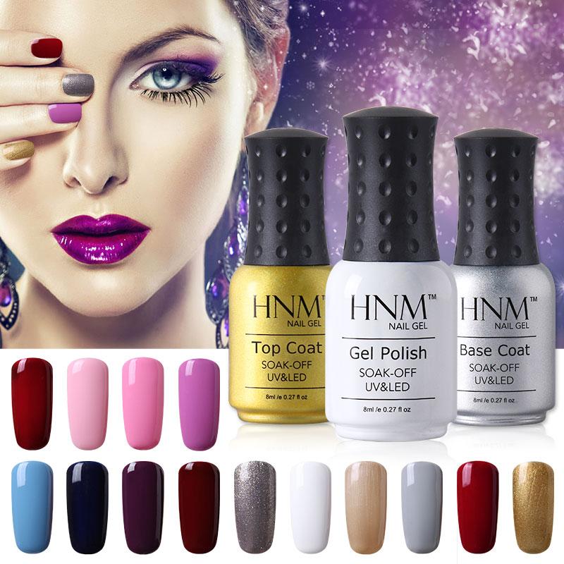 HNM 8ml Soak Off UV Gel Nail Polish Gorgeous Colors Gel Nagellak Gel Lak Vernis Semi Permanent Gel Varnishes Nail Glue Gelpolish(China (Mainland))