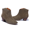 2017 Spring Autumn Ankle Boots For Women Medium Heel 100 Genuine Nubuck Leather Women s Ankle
