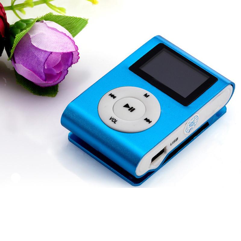 Mini USB Clip MP3 Player LCD Screen Support 32GB Micro SD TF Card
