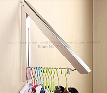 Free Shipping! Luxury Foldable Bathroom Accessories Wall Mounted Clothes Holder Laundry Hanger(China (Mainland))