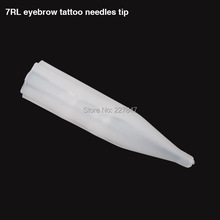 100pcs/lot Plastic Pre-sterilized Disposable Tattoo Tips 7RL Permanent Makeup Tips Tattoo needle Tip Free Shipping(China (Mainland))