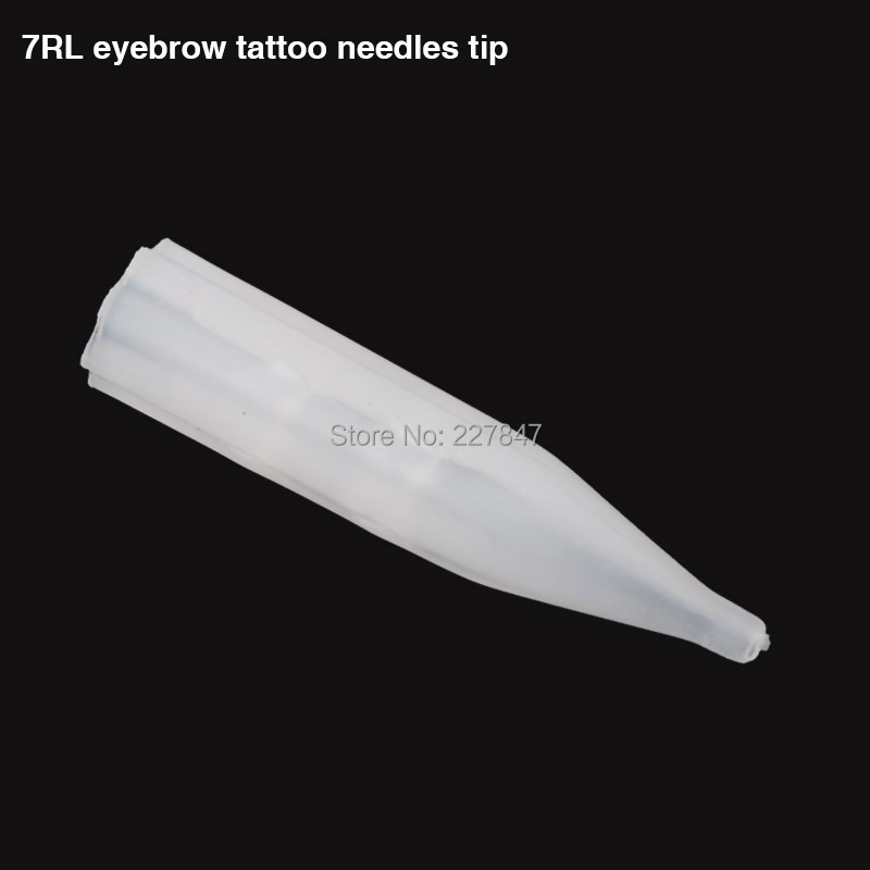 100pcs/lot Plastic Pre-sterilized Disposable Tattoo Tips 7RL Permanent Makeup Tips Tattoo needle Tip Free Shipping