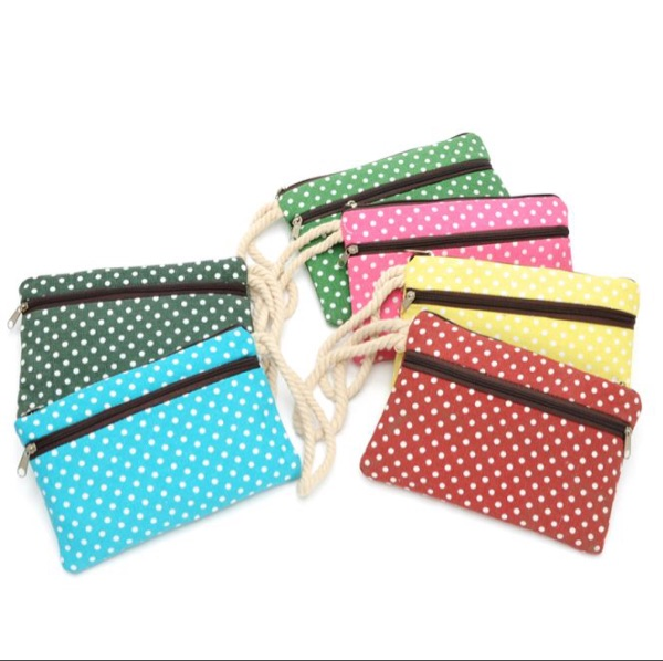 2016 HOT Colorful point 18.5*12CM Storage bag for wallet mobilephone or other hand set&color random(China (Mainland))