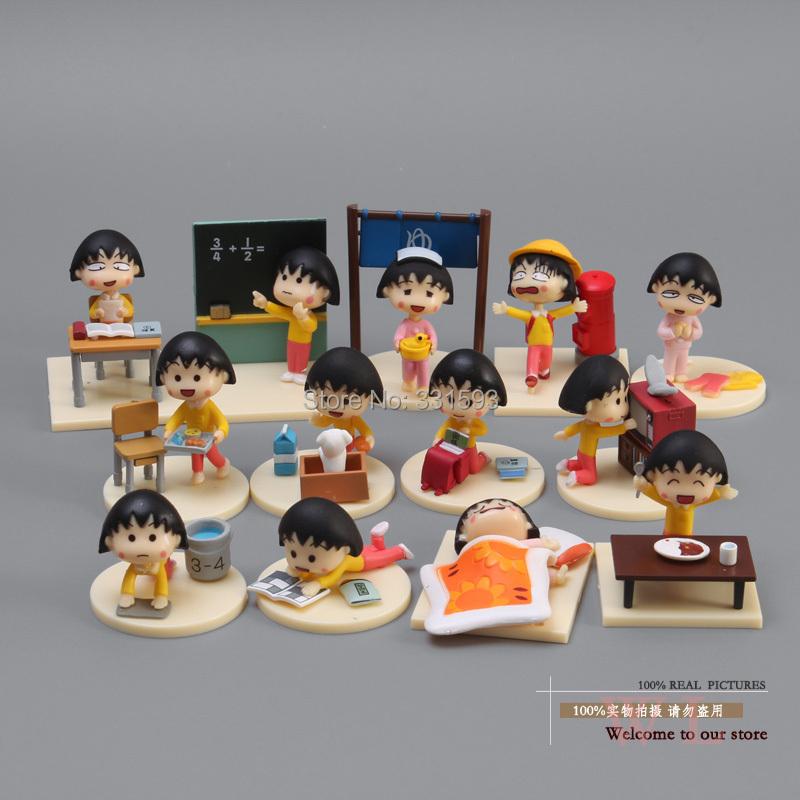 Free Shipping  PVC Action Figure Sakura Momoko Happy Day Figure Toys Dolls 12pcs/set<br><br>Aliexpress