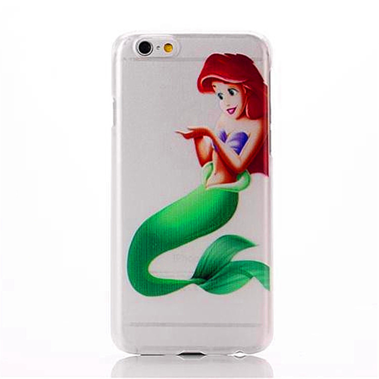 Little Girl Mermaid Princess pattern transparent plastic hard back cover apple iphone 6 4.7 inch mobile phone case - Fashion pride store